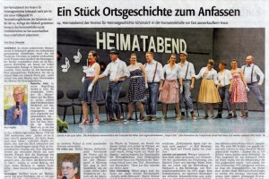 24. Schönaicher Heimatabend -  Kreiszeitung Böblingen - 26. Januar 2015
